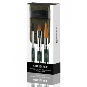 PENNELLI ESCODA GREEN SET ULTIMO N.4 PRADO N.12 BARROCO N.16